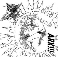 Nerobasta using Ark on Derrierie