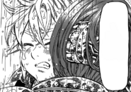 Meliodas crying over the death of a friend