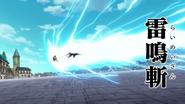 Gilthunder attacking Meliodas with Thunder Scream Strike