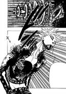 King's spear going through Ban