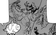 Hawk and Oslo fighting against a Tyrant Dragon