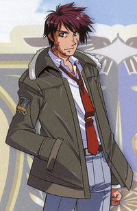 Voltz Stan, as he appears in StrikerS X Guide Book