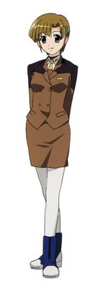 Alto in her Ground Force uniform in StrikerS