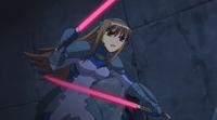 Deed wielding Twin Blades in StrikerS
