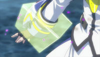 Nanoha being captured in The MOVIE 1st