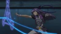 Ginga defending with Tri Shield