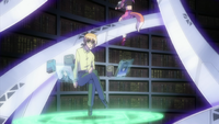 Yuuno working in the Infinity Library