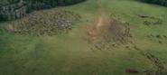 Narnians surrounding the Telmarine Calvary.