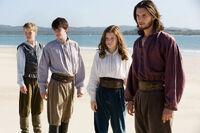 Eustace, Edmund, Lucy & Caspian