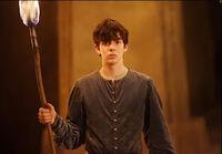 Edmund with torch