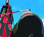 Hidan impales Asuma