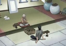 Asuma and Hiruzen playing Shogi.png
