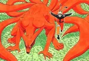 Kurama e Naruto no mangá.jpg