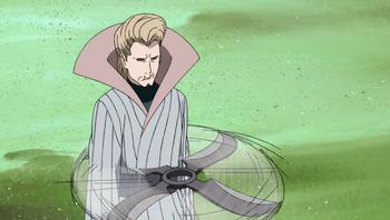 …through which the Mizukage casts his genjutsu.