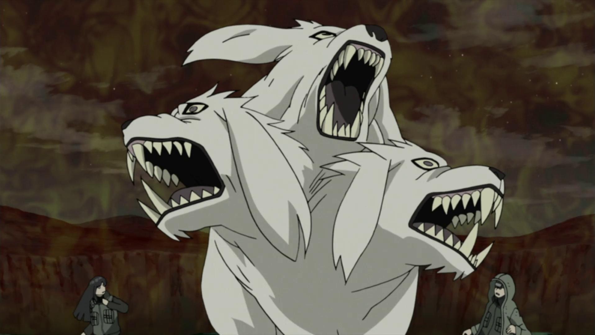 Transformación Mezclada de Hombre-Bestia: Lobo de Tres Cabezas