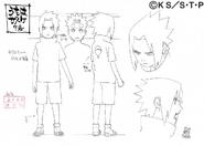 Arte Pierrot - Sasuke Criança