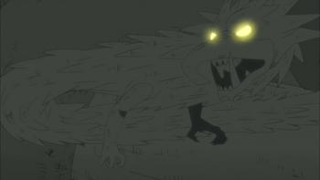 O dragão com o nariz semelhante a um tronco.