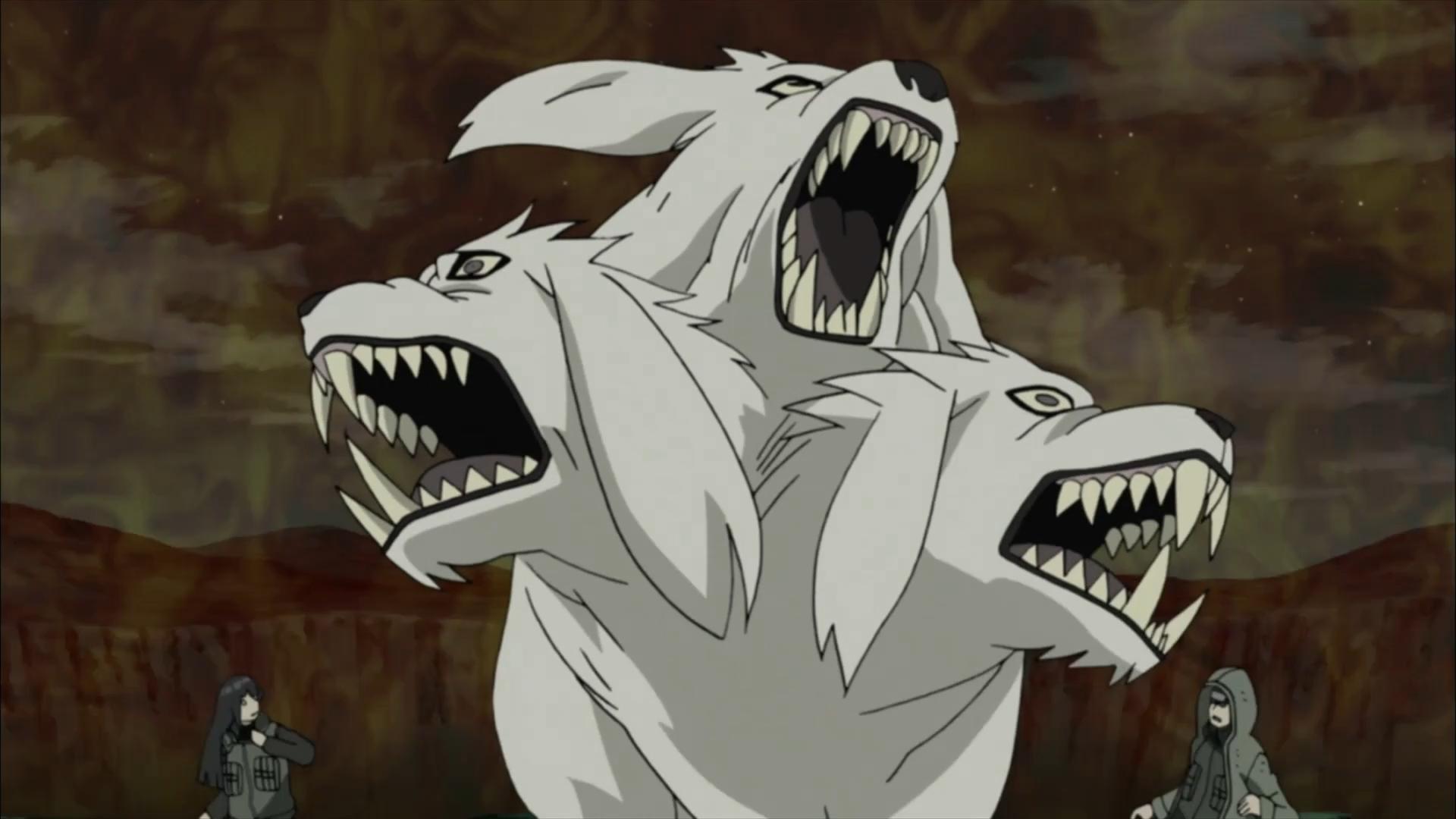 Transformação Misturada da Besta Humana — Lobo de Três Cabeças