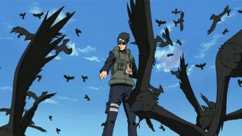 Aoba controls several crows…
