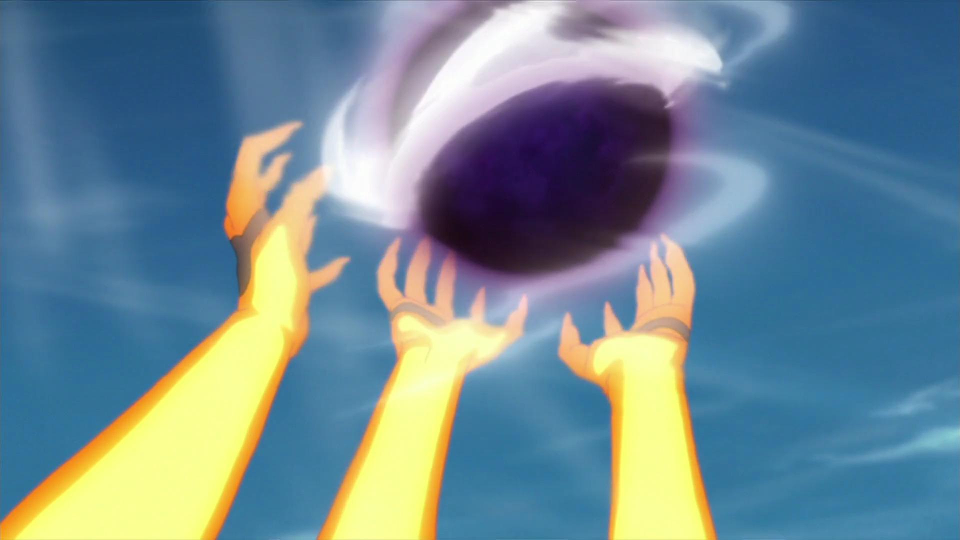 Gran Bola: Rasen Shuriken de Bestia con Cola