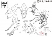 Arte Pierrot - Ossos da Versão 2 de Naruto