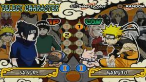 Naruto Ultimate Ninja 4 Selección de personajes.png