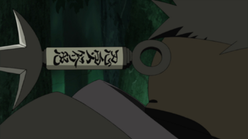 Even though the kunai missed its target…