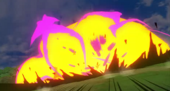 ...que produce una gran explosión.