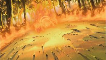 …criando uma aranha de fogo.