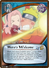 Bienvenido Héroe Carta