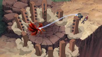 Yamato's use on the jinchūriki.
