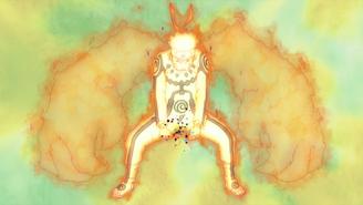 Naruto creando el Rasengan de Bestia con Cola