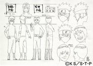 Arte Pierrot - Guy e Kakashi Genin