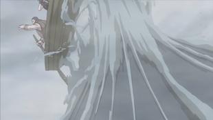 …causando uma onda de água contra o oponente.