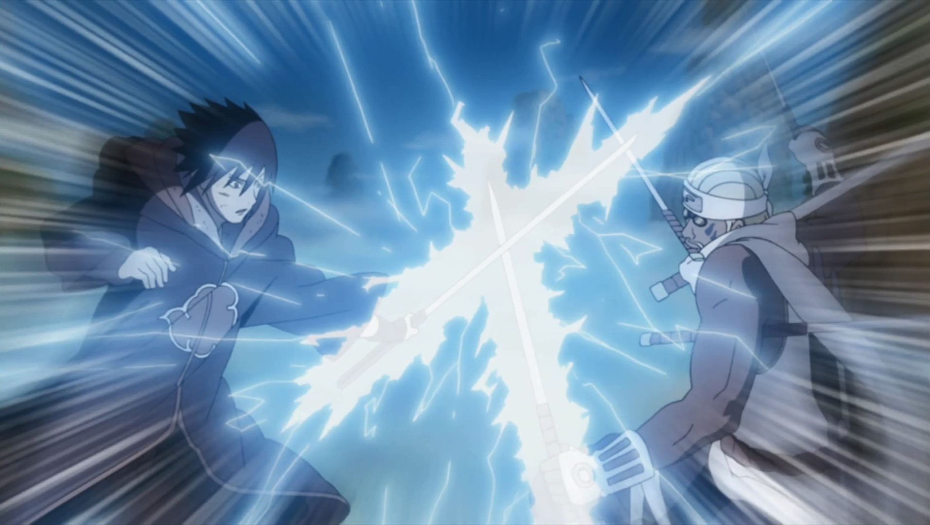 Hachibi contre Sasuke