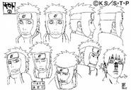 Arte Pierrot - Feições de Yamato