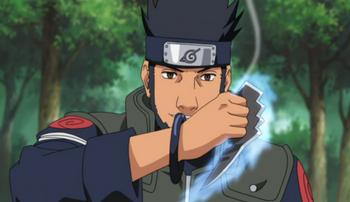 Asuma's chakra blade.