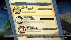 Naruto storm 4 modo aventura - Seleccion de personajes.png