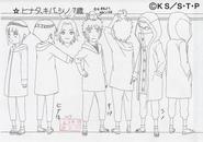 Screenshot=Hinata, Kiba e Shino Crianças