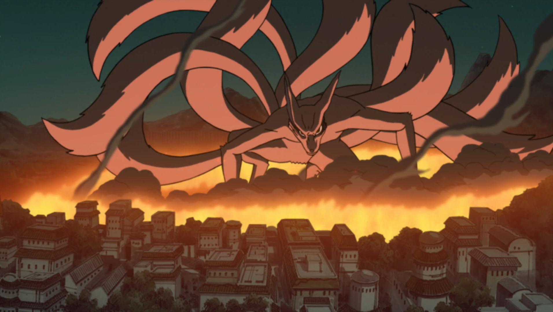 Attaque de Kyûbi à Konoha