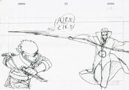 Arte Pierrot - Asuma vs Hidan