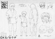 Arte Pierrot - Jiraiya e Naruto Kimono