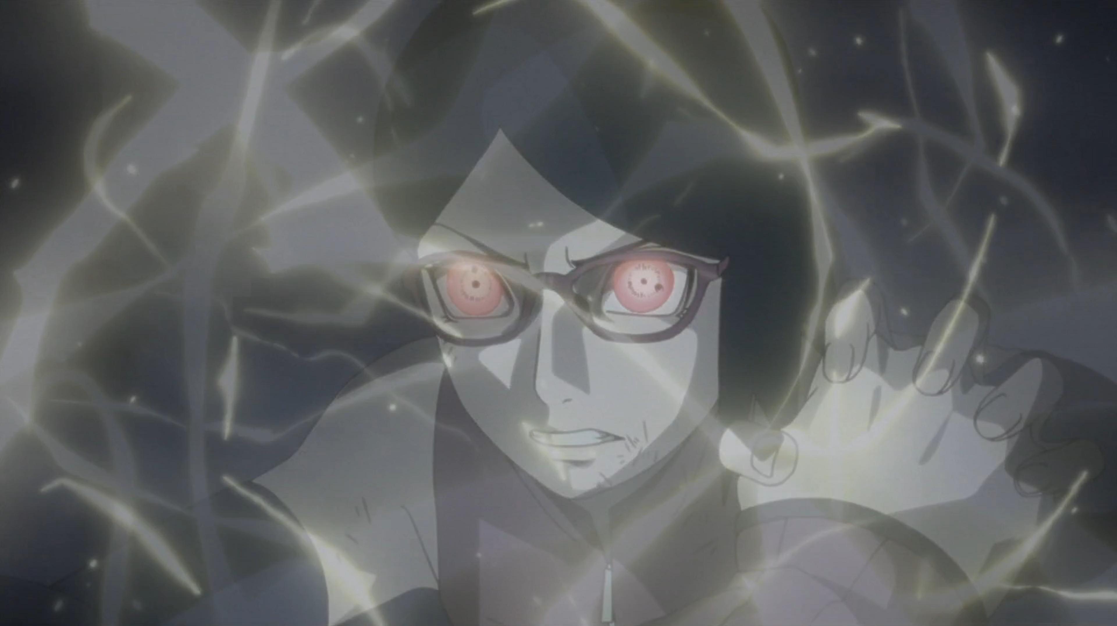 Sharingan contre Kiba Raitô, les épées du tonnerre