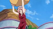 Lançamento de Matacão (Sakura - Anime)