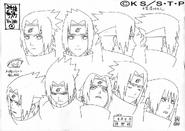 Arte Pierrot - Feições de Sasuke