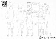 Arte Pierrot - Sasuke (Polícia de Konoha)