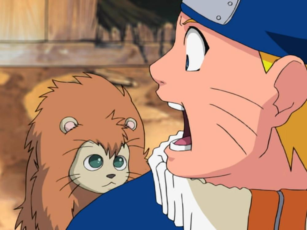 Naruto - Episódio 185: A Lenda da Vila Oculta da Folha! O Onbaa!