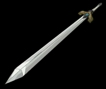 The sword depicted in the anime.
