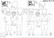 Arte Pierrot - Aoba e Raidō Crianças