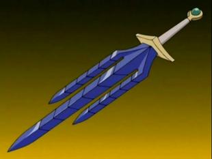 A forma padrão da espada.